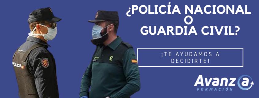 Diferencias entre oposiciones de Policía Nacional y Guardia Civil